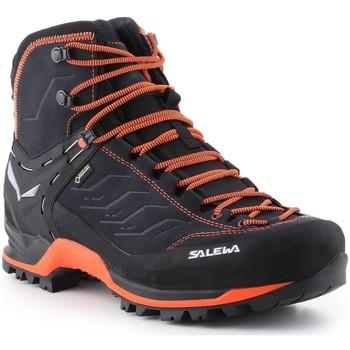 Zapatos Hombre Senderismo Salewa Ms Mtn Trainer Mid Gtx 63458-0985 negro, naranja