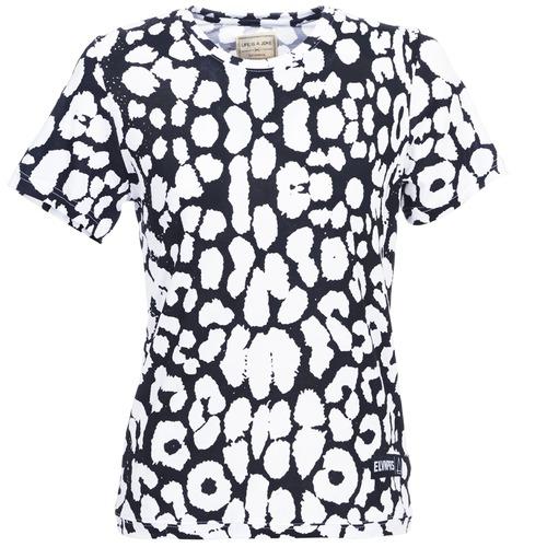 Eleven Mujer Birina Corta Camisetas Textil Manga Paris Negro DH2WE9I