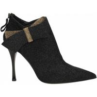 Zapatos Mujer Botines Ororo TRONCHETTO FIOCCO BICOLORE nero