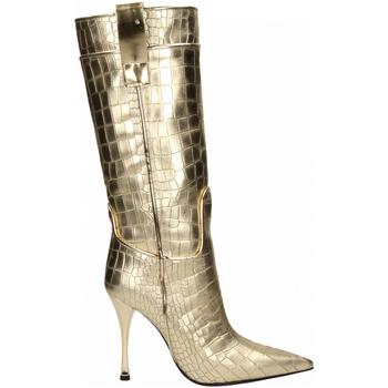 Zapatos Mujer Botas urbanas Ororo STIVALE PELLE LAMINATO platino