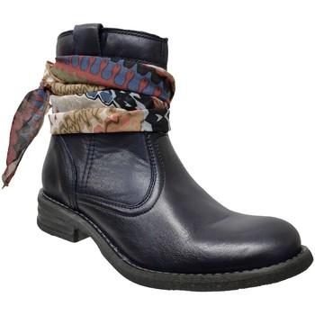 Zapatos Mujer Botines Goodstep 9510 Cuero azul marino
