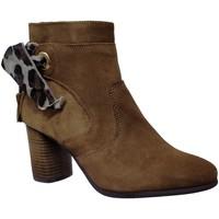 Zapatos Mujer Botines Goodstep 9551 Terciopelo marrón