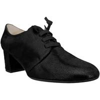 Zapatos Mujer Derbie Brenda Zaro F3508 Cuero negro