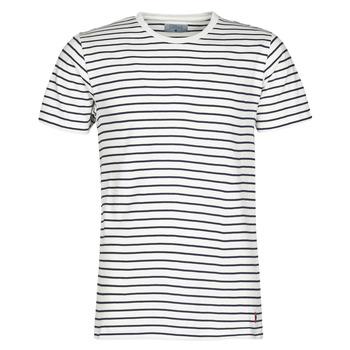 textil Hombre Camisetas manga corta Yurban KINO Marino / Blanco