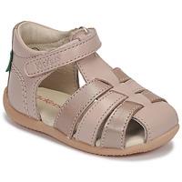 Zapatos Niña Sandalias Kickers BIGFLO-2 Rosa / Metal