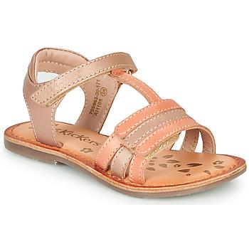 Zapatos Niña Sandalias Kickers DIAMANTO Rosa / Naranja
