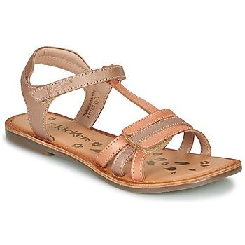 Zapatos Niña Sandalias Kickers DIAMANTO Naranja / Rosa