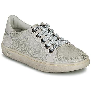 Zapatos Niña Zapatillas bajas Kickers LYKOOL Gris / Plata / Leopardo