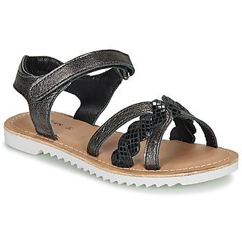 Zapatos Niña Sandalias Kickers SHARKKY Negro
