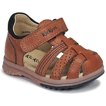 Zapatos Niño Sandalias Kickers PLATIBACK Camel