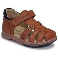 Zapatos Niño Sandalias Kickers PLATIBACK Marrón