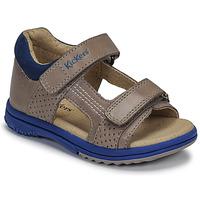 Zapatos Niño Sandalias Kickers PLAZABI Gris / Azul