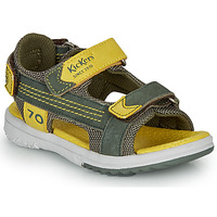 Zapatos Niño Sandalias Kickers PLANE Kaki / Amarillo