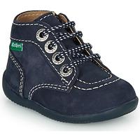 Zapatos Niños Botas de caña baja Kickers BONZIP-3 Marino