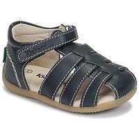 Zapatos Niños Sandalias Kickers BIGFLO-3 Marino