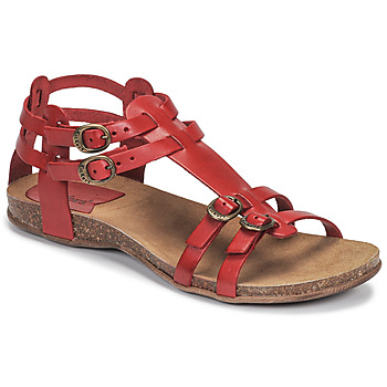 Zapatos Mujer Sandalias Kickers ANA Rojo