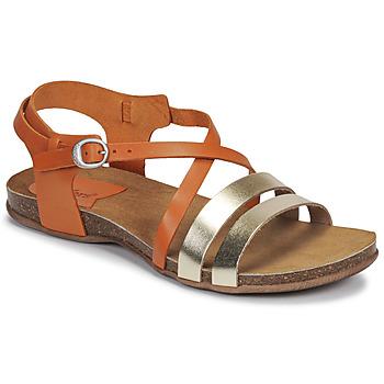 Zapatos Mujer Sandalias Kickers ANATOMIUM Camel / Oro