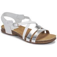 Zapatos Mujer Sandalias Kickers ANATOMIUM Blanco / Plateado
