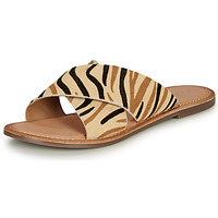 Zapatos Mujer Zuecos (Mules) Kickers DIAZ-2 Beige / Negro / Marrón