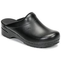 Zapatos Hombre Zuecos (Clogs) Sanita KARL OPEN Negro