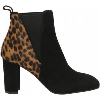 Zapatos Mujer Botines Albano CAMOSCIO nero