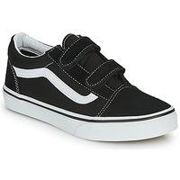Zapatos Niños Zapatillas bajas Vans OLD SKOOL V Negro / Blanco