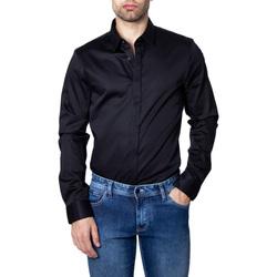 textil Hombre Camisas manga larga EAX 8NZCBD ZN10Z Nero