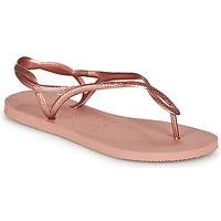 Zapatos Mujer Chanclas Havaianas LUNA Rosa / Oro