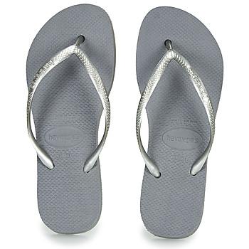 Zapatos Mujer Chanclas Havaianas SLIM FLATFORM Gris