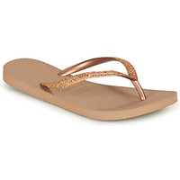 Zapatos Mujer Chanclas Havaianas SLIM GLITTER Rosa / Gold