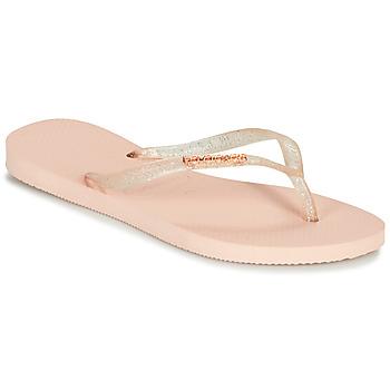 Zapatos Mujer Chanclas Havaianas SLIM LOGO METALLIC Rosa