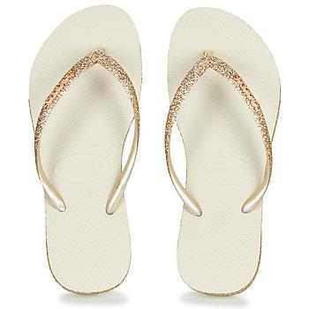Zapatos Mujer Chanclas Havaianas SLIM SPARKLE Beige / Oro