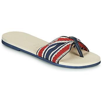 Zapatos Mujer Chanclas Havaianas YOU SAINT TROPEZ FITA Beige / Marino / Rojo