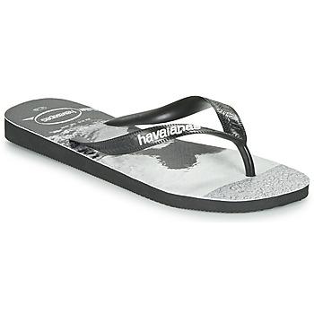 Zapatos Hombre Chanclas Havaianas TOP PHOTOPRINT Negro / Blanco