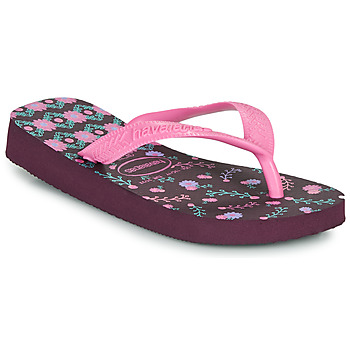 Zapatos Niña Chanclas Havaianas KIDS FLORES Morado