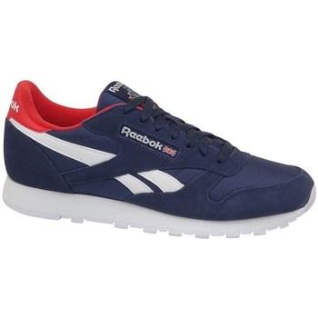 Zapatos Hombre Zapatillas bajas Reebok Sport CL Leather MU Azul marino