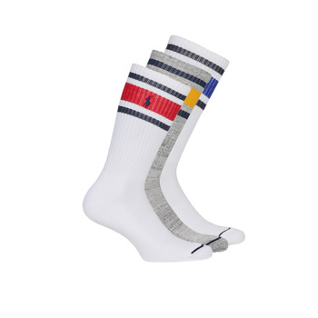 Accesorios Hombre Calcetines Polo Ralph Lauren 3PK OC CH ST-CREW-3 PACK Blanco