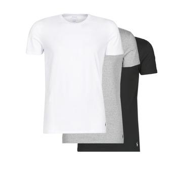 textil Hombre camisetas manga corta Polo Ralph Lauren WHITE/BLACK/ANDOVER HTHR pack de