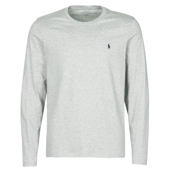 textil Hombre Camisetas manga larga Polo Ralph Lauren L/S CREW-CREW-SLEEP TOP Gris