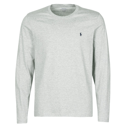 textil Hombre Camisetas manga corta Polo Ralph Lauren L/S CREW-CREW-SLEEP TOP Gris