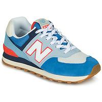 Zapatos Zapatillas bajas New Balance 574 Azul / Gris / Naranja
