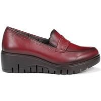 Zapatos Mujer Mocasín Fluchos Zapatos  F0695 Burdeos Rojo