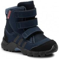 Zapatos Niños Botas de nieve adidas Originals CW Holtanna Snow CF Negros,Azul marino