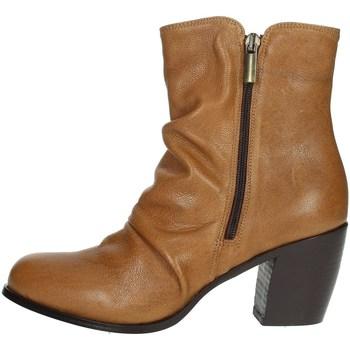 Zapatos Mujer Botas de caña baja Elena Del Chio 5803 Marrón cuero