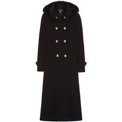 textil Mujer Abrigos Anastasia Abrigo de cachemir cruzado de invierno Black