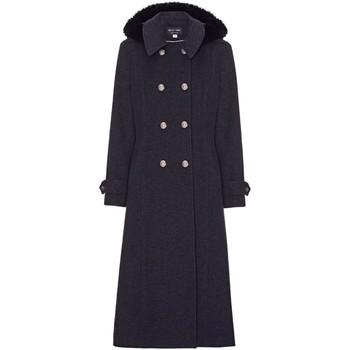 textil Mujer Abrigos Anastasia Abrigo de cachemir cruzado de invierno Grey