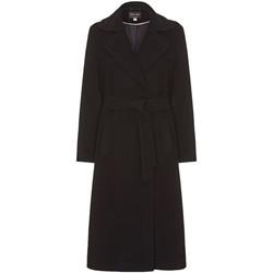 textil Mujer trench Anastasia Abrigo de Invierno con Cinturón de Cachemir Black