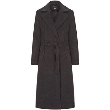 textil Mujer trench Anastasia Abrigo de Invierno con Cinturón de Cachemir Grey