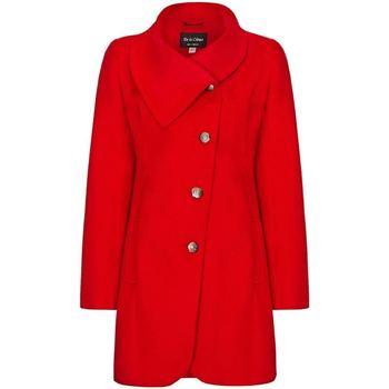 textil Mujer Abrigos De La Creme Abrigo de Invierno con Cierre Asimétrico Para Mujer Red