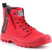 Zapatos Hombre Zapatillas altas Palladium Manufacture Pampa Unzipped 76443-614-M rojo